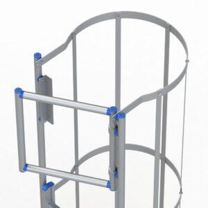 Scale Passerelle Parapetti Scale con gabbia e accessori
